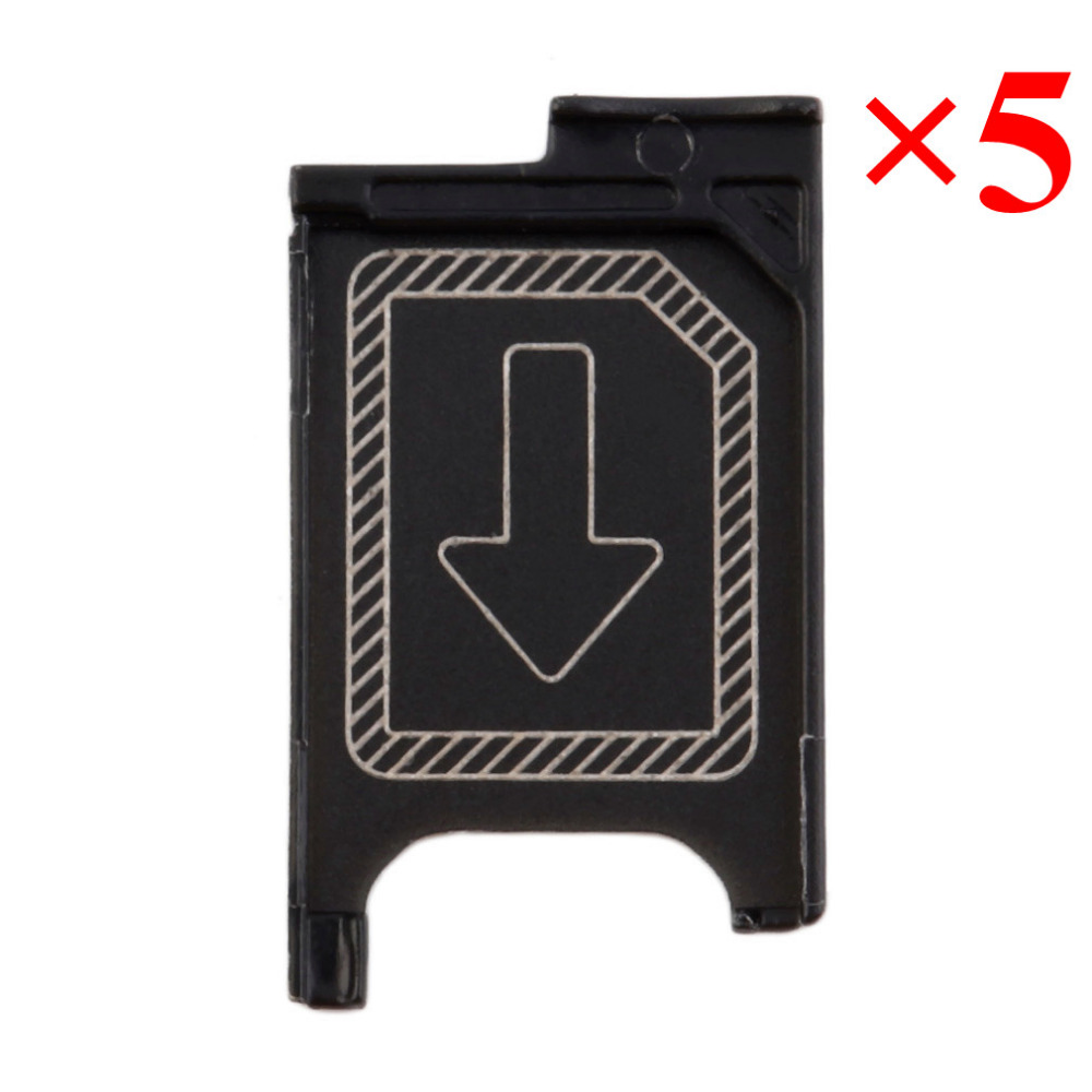 1/3/ 5pcs Micro <font><b>Sim</b></font> Card Tray Holder <font><b>Slot</b></font> Replacement For Sony Xperia Z3 L55T D6603 D6643 D6653 Z3 Compact mini D5803 D5833 image
