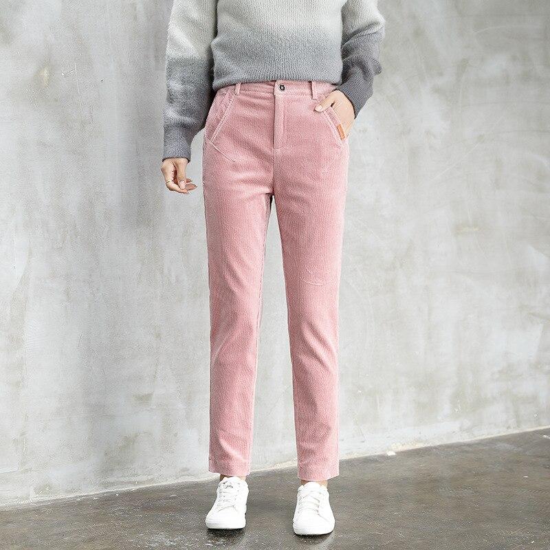 Autumn And Winter Corduroy   Pants     Capri   Corduroy WOMEN'S   Pants   2018 New Style Korean-style Harem   Pants   Women's Casual   Pants   Skinn