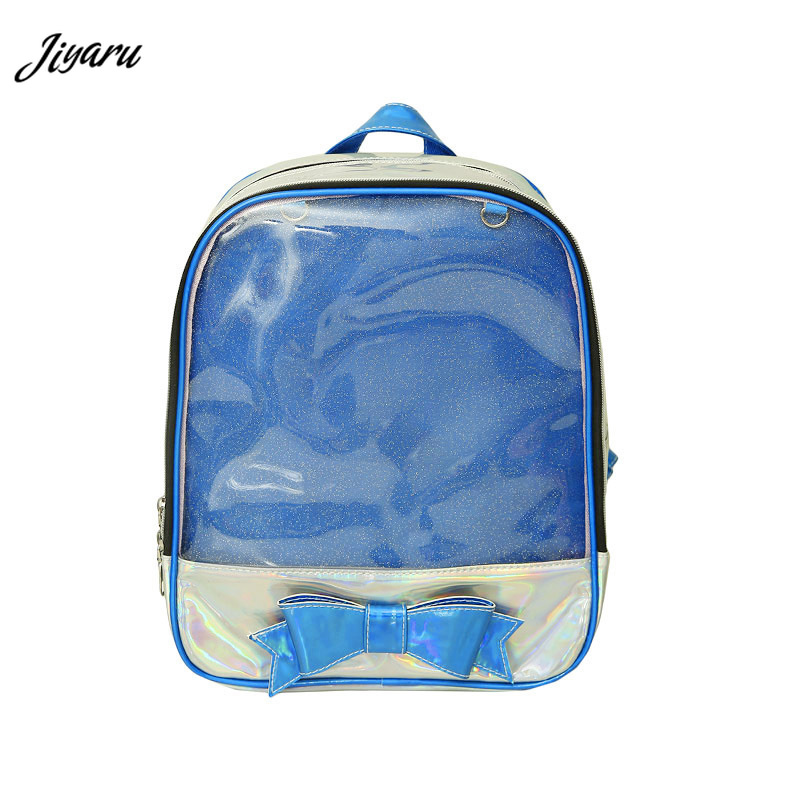 2019 New Ita Bag Women Clear Backpack Ladies Transparent Backpack Lovely Teenage Girls Backpack Lolita Bag Ita Bag