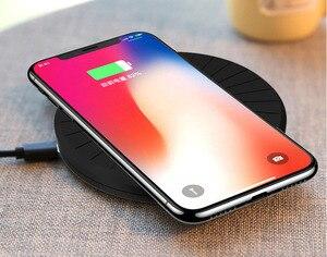 Image 5 - 10W przenośna bezprzewodowa ładowarka Qi Pad dla Samsung s10 S9 uwaga 5 iphone 8 Plus xs max Xiaomi Mi 9 inteligentny telefon stacja ładująca