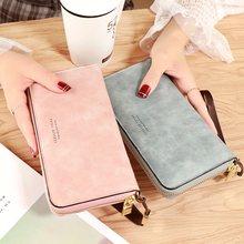 Marque femmes portefeuille en cuir sac à main dames bracelet téléphone portable sac longue fermeture éclair embrayage qualité femme porte-carte sacs