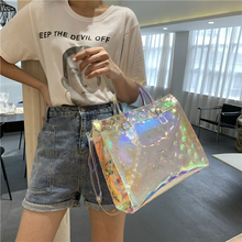 Ladies Large Capacity Laser Handbags High-quality Single Shoulder Bag Luxury Sol