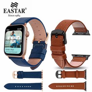 Eastar 3 Color Hot Sell Leather Watchband for Apple Watch Band Series 5/3/2/1 Sport Bracelet 42 mm 38 mm Strap For iwatch 4 Band(China)