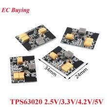 Tps63020 buck-boost automático step up para baixo módulo de alimentação 2.5v 3.3v 4.2v 5v bateria de lítio conversor de baixa tensão ondulação