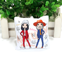 10cm New Design Custom Pillow Keychain Cartoon Print Pillow Keychain with Your Design