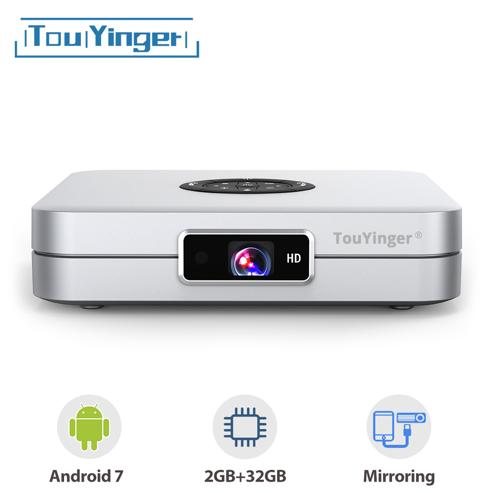 TouYinger K2 DLP Smart Android projector support FULL HD 1080P 2.4G + 5G Wifi 2GB RAM 32GB ROM home cinema movie 3D Media Player