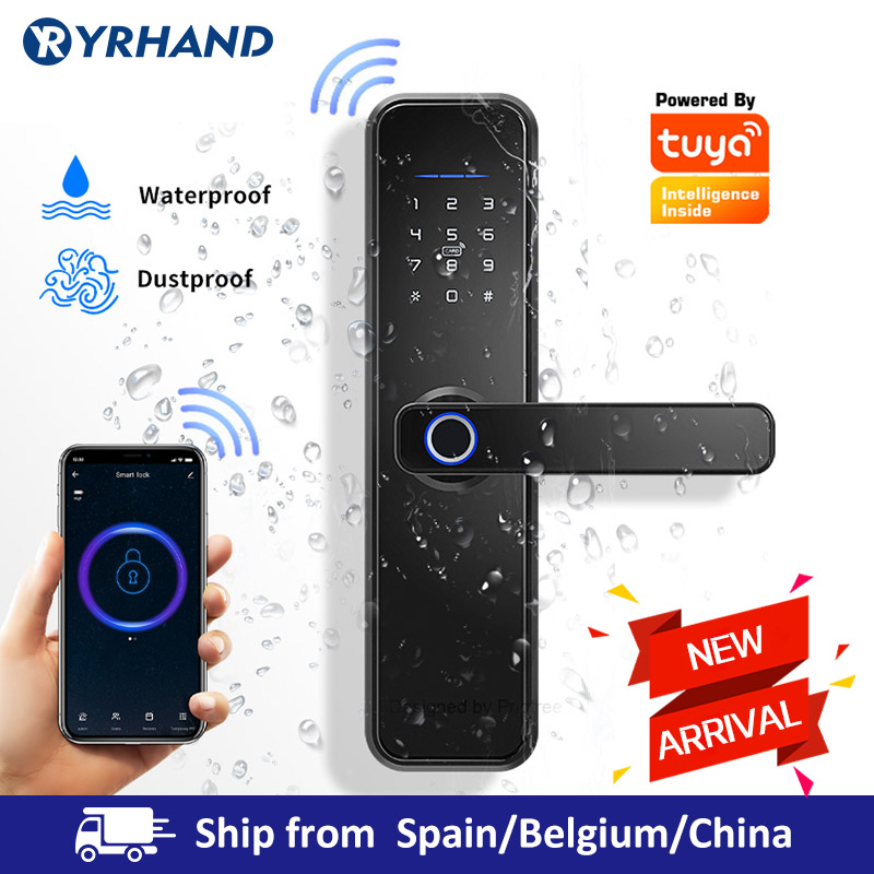 Fingerprint-Lock Door-Lock Biometric Tuya Wifi RFID Password Intelligent Security Waterproof