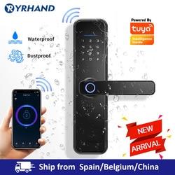 ¡Nuevo! Cerradura biométrica de huella dactilar X5, cerradura inteligente de seguridad con WiFi APP, cerradura de puerta RFID