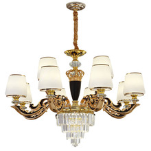 European Glass Chandelier Living Room Hotel Villa Zinc Alloy Luxury Dining Crystal Bedroom Study