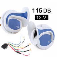 12V Laut 8 Sounds 118DB Elektrische Digital Air Horn Sirene Lautsprecher für Auto Auto Boot Megaphon Alarm Lautsprecher sirene mit Relais