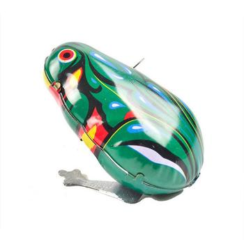 1PCS Kids Frog Toy Classic Wind Up Clockwork Toys Jumping Frog Vintage Toy For Children Educational Christmas Frog Gifts image