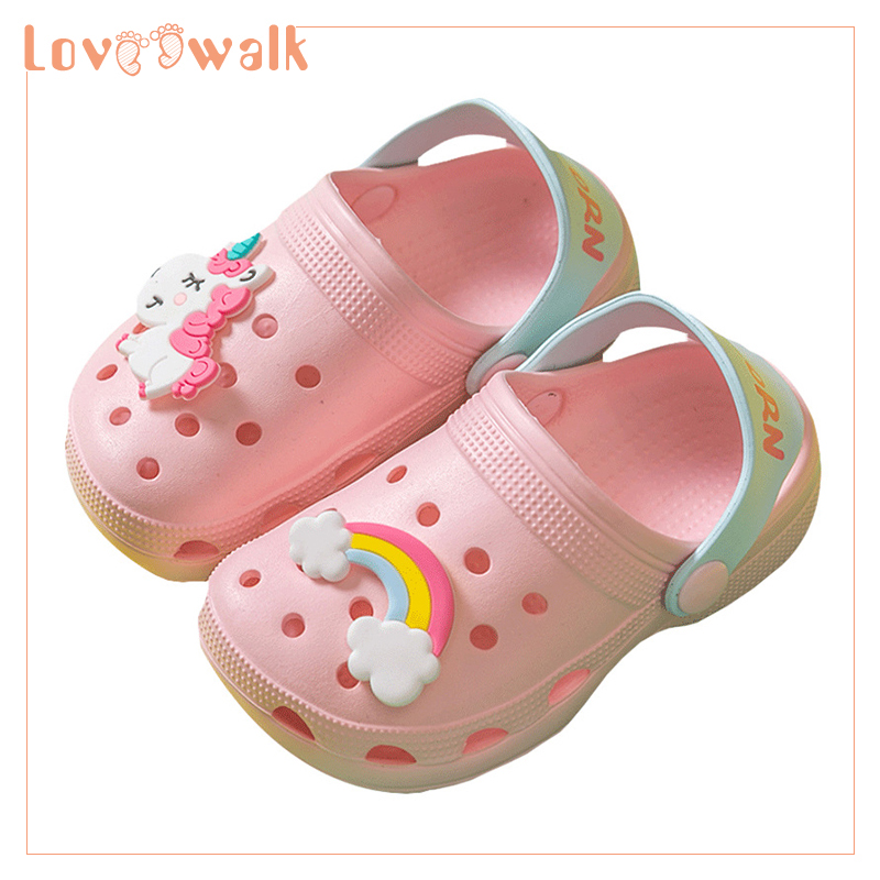 Girls Shoes Clogs Kids Slippers 2019 New Unicorn Shoes Baby Boy Beach Sandals Soft EVA Toddler Girls Sandals Flip Flops Kids