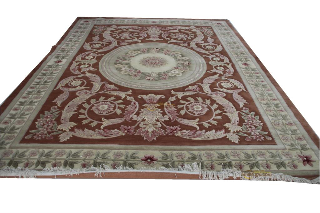 Floral Carpet Roses   Oriental Hand-woven Wool Rug Embroidered Runner Carpet For Home Decoration Museum Wool Knitting Carpets