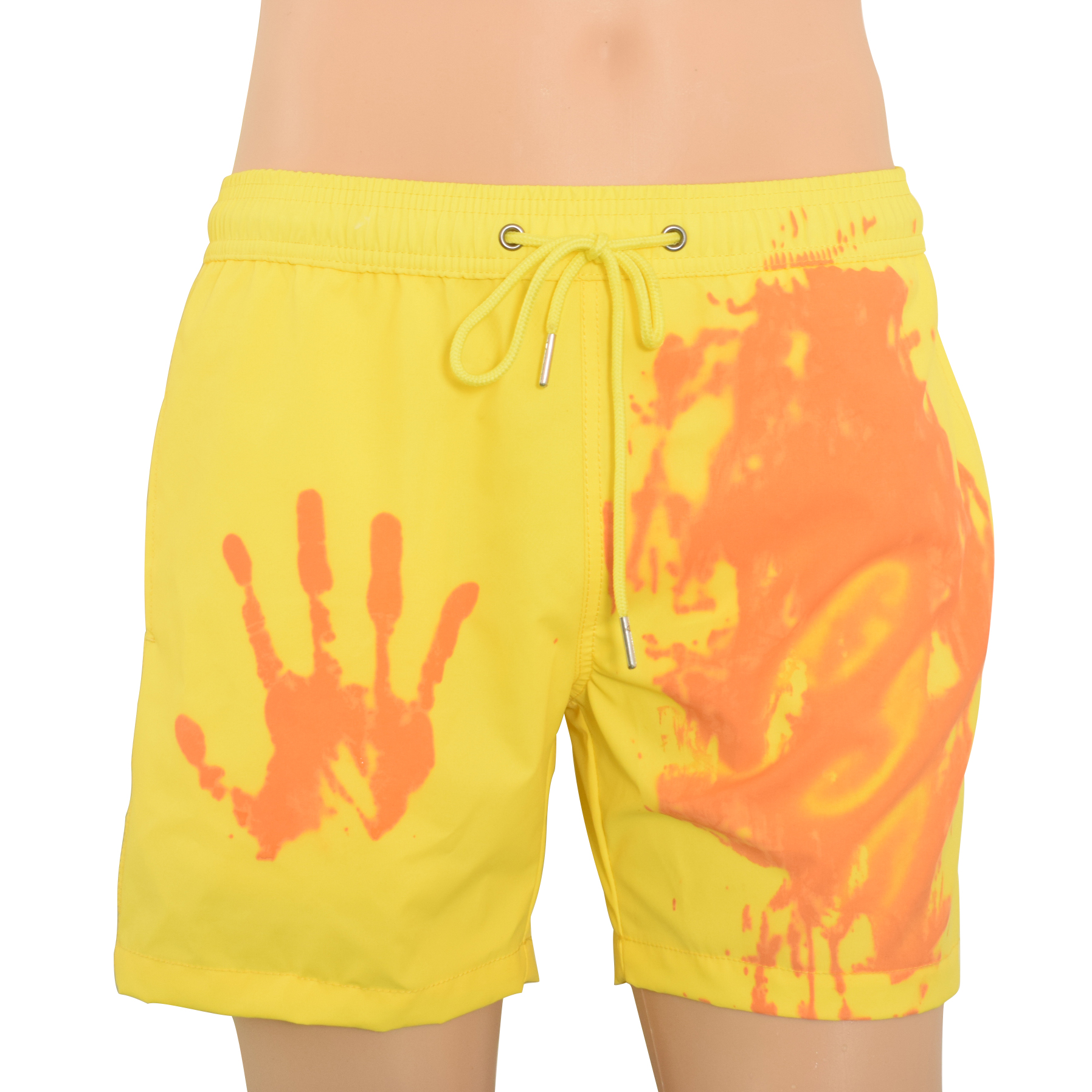 2019 Change Color Man Beach Pant Yellow Change Pink Male Pant Quick-drying with Pocket Male Surfing Shorts GYM Swimwear