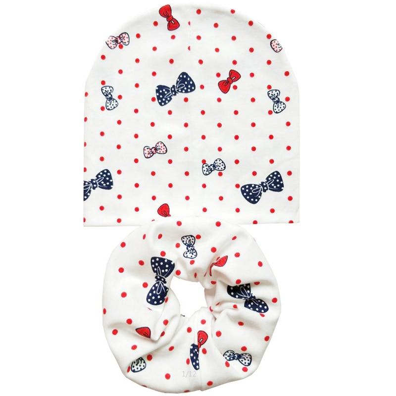 New Fashion Cartoon Spring Autumn Winter Baby Hat Set Boys Girls Neck Scarf Warm Cap Kids Beanies Sets Cotton Children Hat Scarf