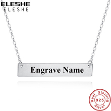Name Charm Necklaces Pendant Engrave Personalized Jewelry Customized 925-Sterling-Silver