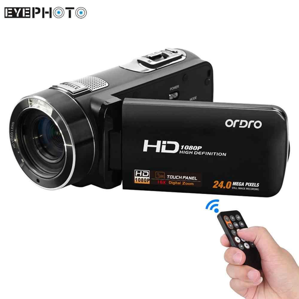 Videocámara Digital Andoer HDV-Z8 1080P Full HD Zoom Digital 16x rotación Digital pantalla táctil LCD máx. 24 megapíxeles