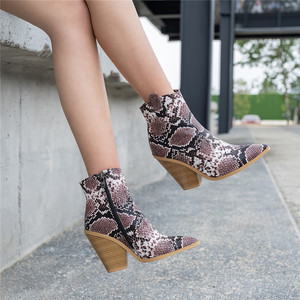 Image 5 - FEDONAS Winter Female Plus Size Chunky Heels Party Night Club Shoes Woman Brand Women Leather Ankle Boots Classic Western Boots