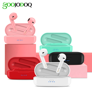 Image 5 - Wireless Bluetooth Earphone with Charging Case, GOOJODOQ Hi Fi Stereo IPX5 TWS Wireless Headphone Bluetooth Earbuds Headset