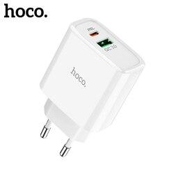 Hoco pd qc 3.0 fcp afc usb carregador de carga rápida ue eua reino unido plug carregamento rápido parede carregador do telefone móvel para iphone x xiaomi huawei