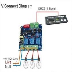 1 sztuk 2018 nowy wysokiej jakości przekaźnik DMX512 3CH * 5A wejście wykorzystanie dla DMX-RELAY-3 kanał kontroler DMX led lampa led strip AC110v-220V