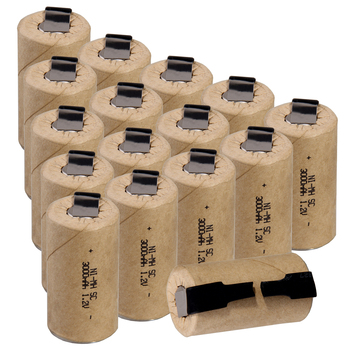 3000mAh onglets de soudage rechargeables NIMH pour outils électriques 1.2V plat supérieur sous C batterie soudure ruban SC batteries