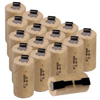 3000mah guias de solda recarregáveis nimh para ferramentas elétricas 1.2v parte superior plana sub c bateria de solda fita sc baterias