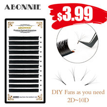0.05/0.07 C/D 1 pcs new arrived Automatic Flower lash volume easy fanning eyelash ffect false and bloom faux mink lashes