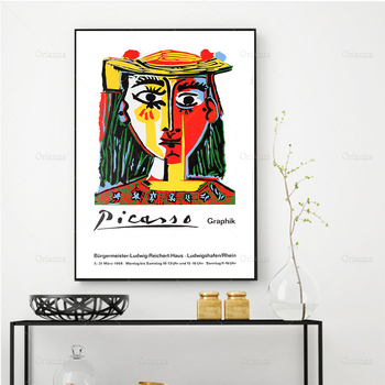 HD Print 1978 Vintage Exhibition Poster For Works By Picasso Wall Art Canvas Painting Pictures Bedroom Home Decor Frame Cuadros image