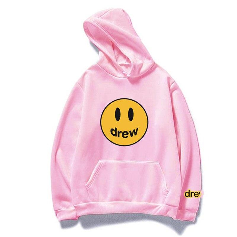 2020 Justin Bieber Drew House Drew Printed Hoodies 1:1 Top Version Women Men Unisex Oversize Hip Hop Hooded Sweatshirt