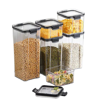 Food Storage Containers, Airtight Cans, Plastic Storage Boxes, Stackable Food Storage Boxes, Kitchen Refrigerator Storage Tanks