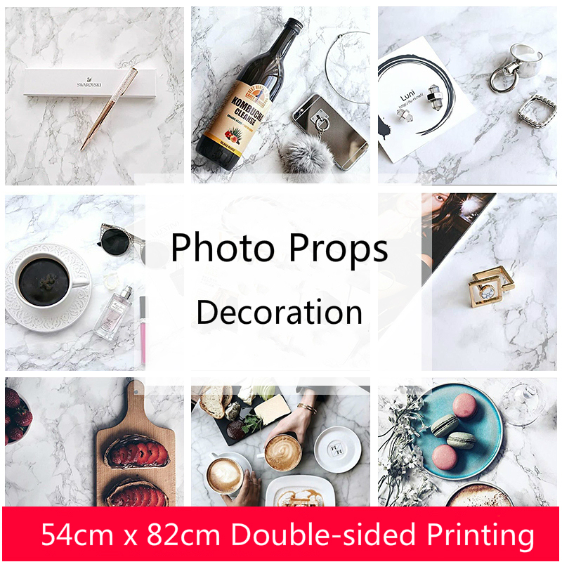 Marble Background Paper Ins Wind Photo Props Food Photography Photo Shoot Pendulum Props Decoration