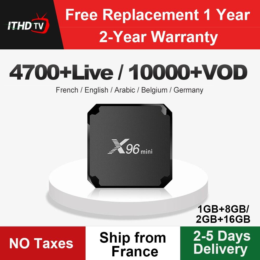 X96mini Italy IPTV Box X96 mini Android 7.1 Tv Box IPTV Italia France Arabic Spain Portugal Africa IP TV Italian Subscription-in Set-top Boxes from Consumer Electronics