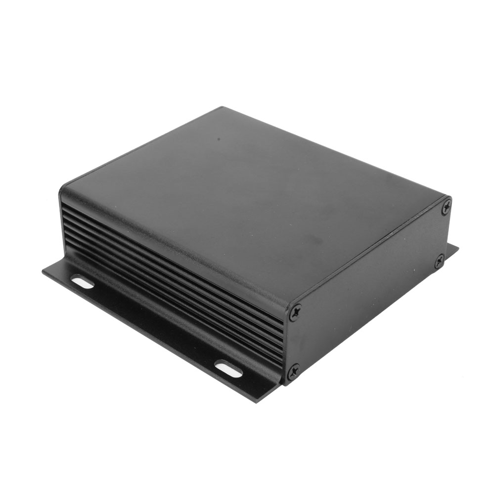 Sand Black Extruded Aluminum Enclosures Waterproof PCB Instrument Project Case Electronic DIY Junction Box 28x104x95mm