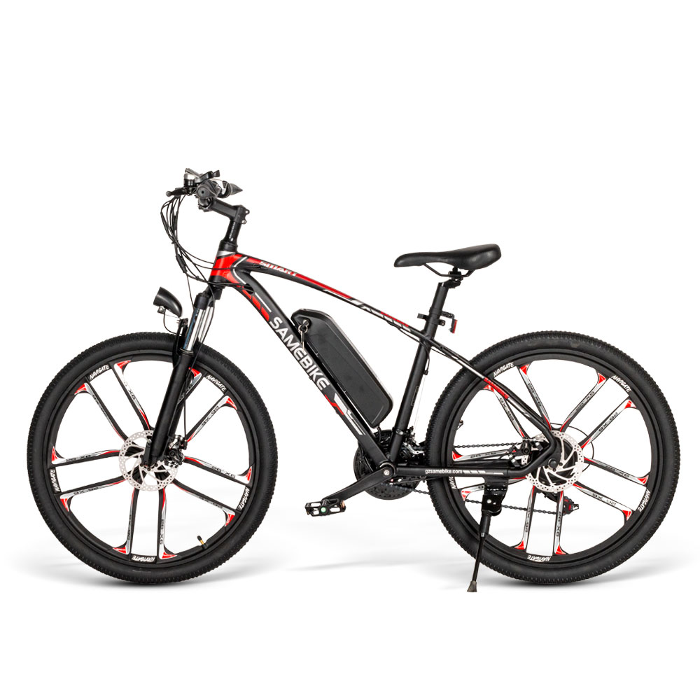 48V10Ah/13Ah Electric Bicycle 350W Motor 30km Speed Mountain Bike 26 inch Wheel Bike Single Seat Aluminum Alloy EBike