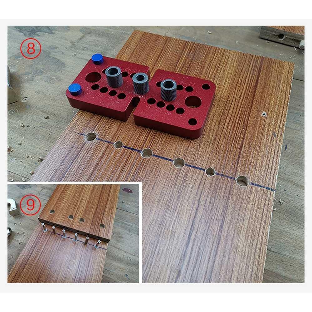 Travail du bois Triple poinçon retenue 08350S bois trou perforateur 08600 perforateur foret en alliage d'aluminium Position travail du bois ouverture