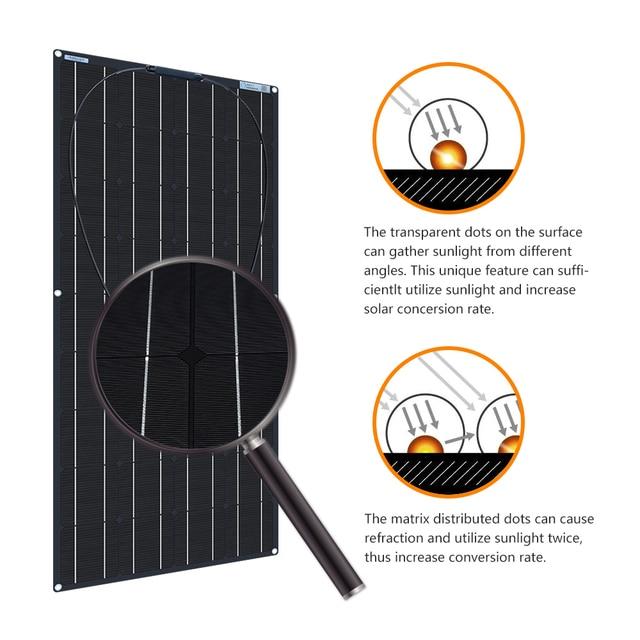 XINPUGUANG 1pcs~ 5pcs  18v 120W Black Flexible Solar Panel 18V/36v 240w 48V/18V 360W 12V/24V 480W 600W 4