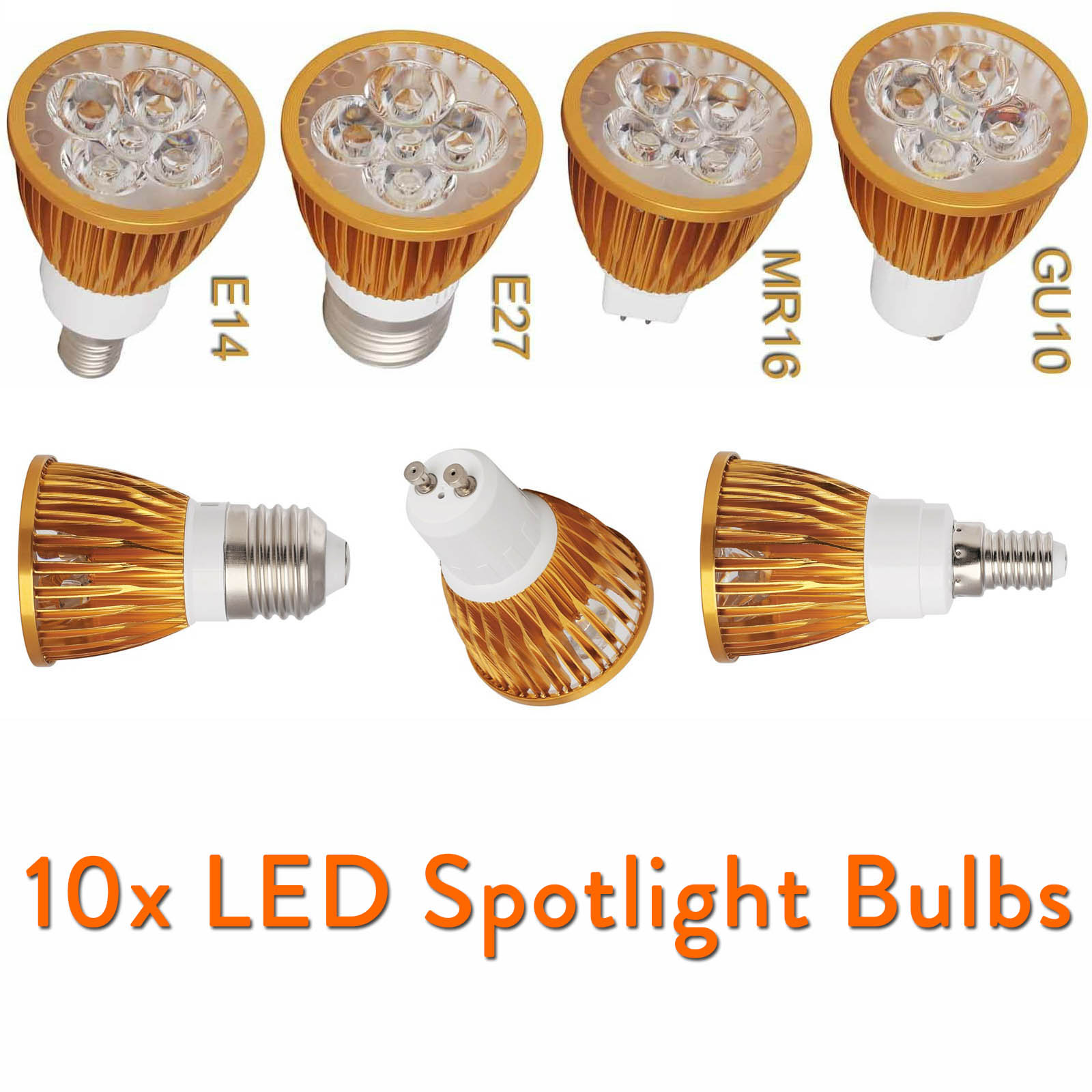 10x Dimmable LED lamp Spotlight Bulb MR16 GU10 E27 E14 LED spot light12V 220V 110V 9W 12W 15W Lamp Warm Cool White Neutral White