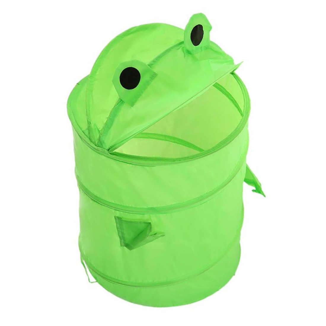 Niedliche Cartoon-Tier Frosch Hund Spielzeug Container Spielzeug Lagerung Box Folding Eimer Wäsche Zylinder Korb für Spielzeug