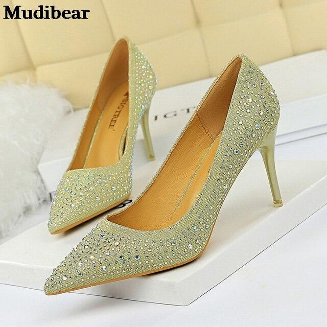 Фото mudibear/2020 для женщин женские туфли лодочки на очень высоких