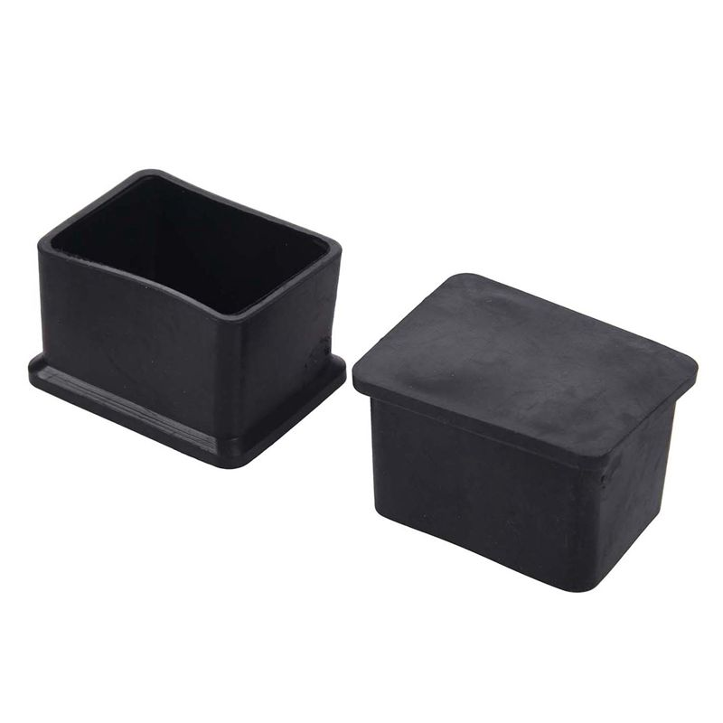 10 Pcs Rubber 30x40mm Chair Table Foot Cover Furniture Leg Protectors
