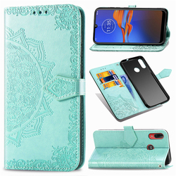 На Алиэкспресс купить чехол для смартфона flip leather case for moto e6 plus one zoom funda mandala flower wallet phone case for motorola e6 g6 plus fashion card cover
