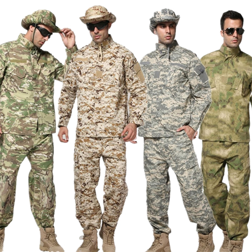 10Color Military Uniform ACU Special Forces Tactical Men Army Militar Soldier Combat High Quality Camouflage Clothes Pant Set