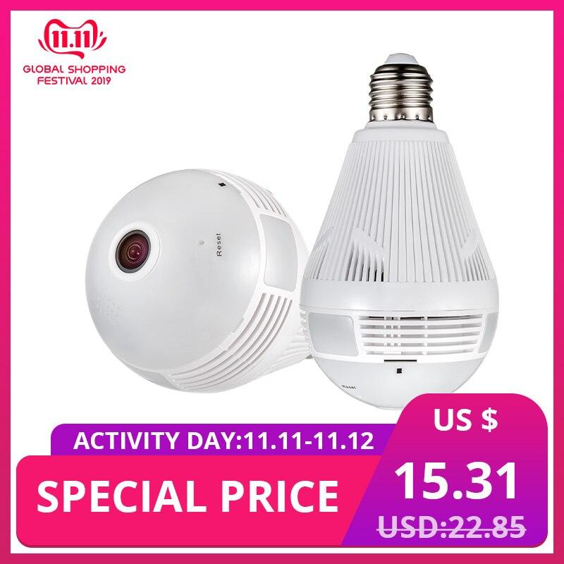 KERUI 960P Wireless Bulb Fisheye 360 Panoramic WIfi IP Camera LED Light Lamp Home Security Burglar Surveillance Camera Lampada