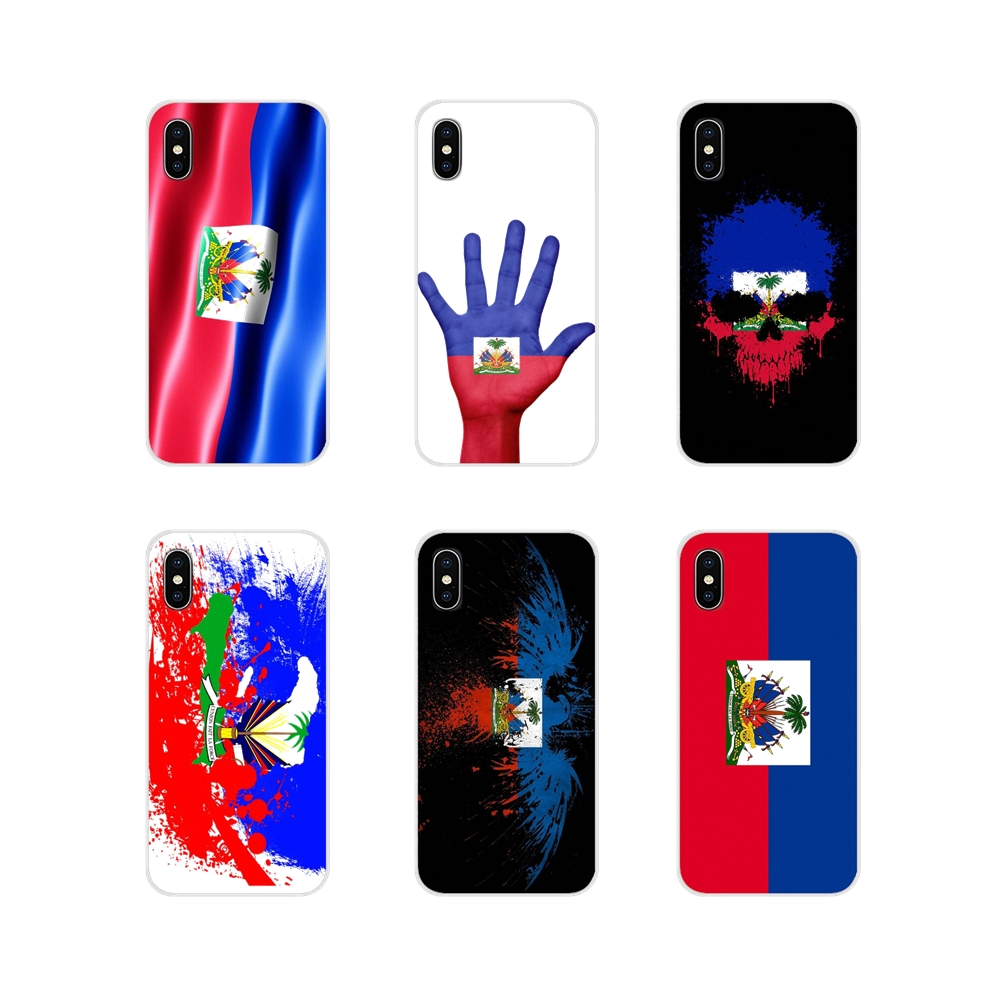 Vintage Haiti Haitian <font><b>Flag</b></font> Banner For <font><b>Samsung</b></font> <font><b>A10</b></font> A30 A40 A50 A60 A70 Galaxy S2 Note 2 3 Grand Core Prime Cell Phone Shell Cases image