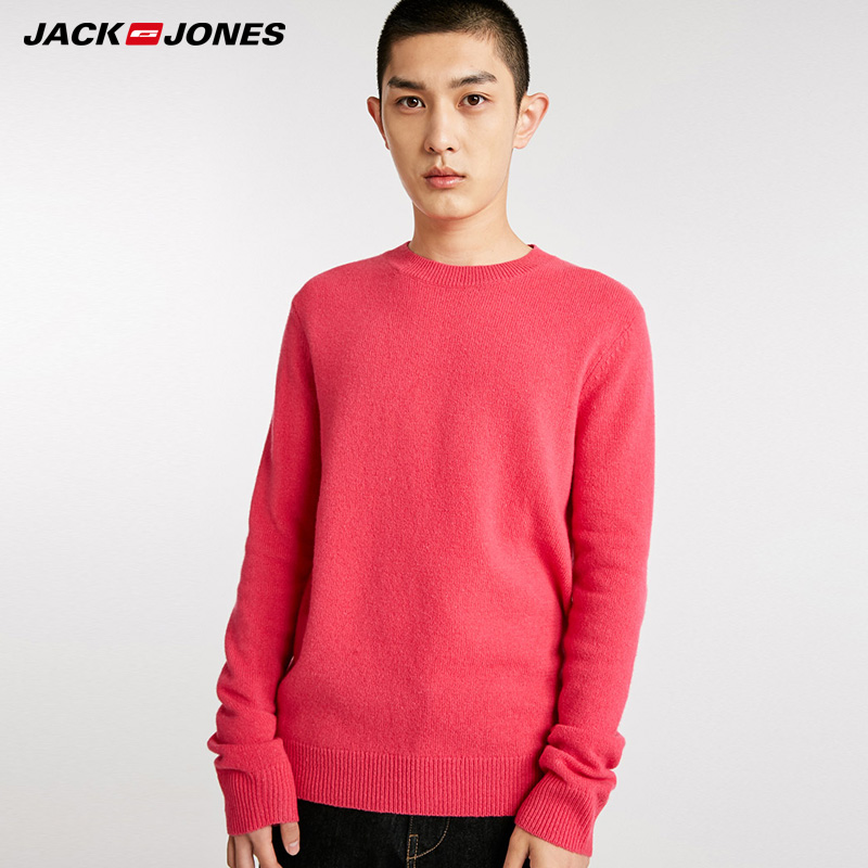 JackJones Winter Pure Color Mens Leisure Wool Sweater|  218424507