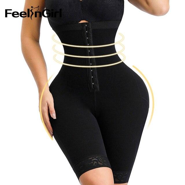 FeelinGirl Women Waist Trainer Corset Butt lifter Tummy Control Underwear Slimming Shaper High Waist Control Panties