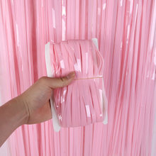 2M pink wedding backdrops curtain swag Foil Fringe Backdrop Curtain Photo Booth Backdrop Party Tinsel Curtain Party Supplies(China)