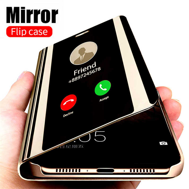 Smart Mirror Phone Case For Samsung Galaxy S20 S10 S9 S8 Plus A51 A50 A71 A70 A01 A20 A30 A10s A50s A70s Note 10 Plus 8 9 Cover