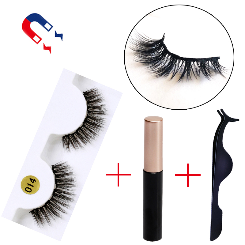 5 Magnet Eyelash Magnetic Liquid Eyeliner Magnetic False Eyelashes Tweezer Set Waterproof Long Lasting Eyelash Extension Tools